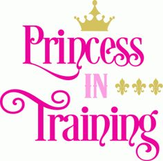 Silhouette Design Store: princess in training title