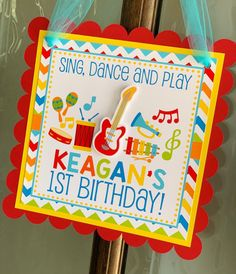 1 Year Old Birthday Party, Birthday Door, Music Theme Birthday, 1st Birthday Party Themes, 1st Boy Birthday, Music Party Decorations, Birthday Decorations, Boy Music, First Birthdays