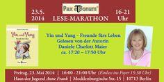 "Autorin Daniela Charlott-Maier liest aus Ihrem Buch ""Yig und Yang""... - Pax et Bonum e.K./Verlag Pax et Bonum"