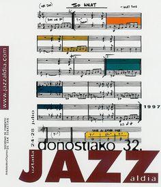 San Sebastian's Jazz Festival poster 1997