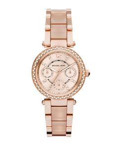 Y2HFN Michael Kors Mini Parker Rose Golden Stainless Steel Watch