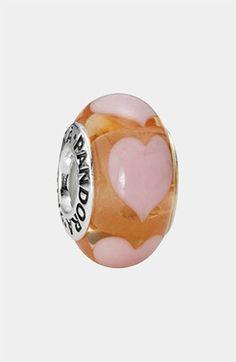 PANDORA 'Love' Murano Glass Charm | Nordstrom