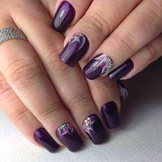 """Коррекция акриловых ногтей """"под лак"""" +гель-лак.  @alenkavg  https://www.instagram.com/p/BA_4r6xwasl/"""