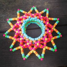 Bright Colorful Rave Festival 3D Kandi Cuff by CasaDePlur on Etsy
