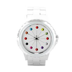 Colorful Retro Style Star Burst Atomic Spheres Wrist Watches