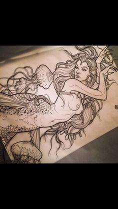 Mermaid tattoo                                                                                                                                                     More