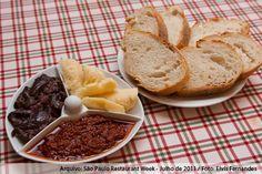 Cantina Bella Donna (jantar)    Antepasto  Berinjela, Sardela, queijo parmesão ou aliche com pão italiano com Cream Cheese Philadelphia