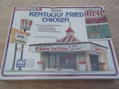 HO Scale Vintage Model train Kit Kentucky Fried Chicken KFC Drive In NEW NOS