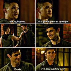 """#Shadowhunters 2x01 """"This Guilty Blood"""" - Magnus and Alec"""