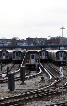 subway train yard
