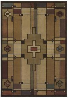 This wonderful rug by an American maker will look great and be a nice place for the kids to play in the den/living area under the living room set!    http://plushrugs.com/shaw/phillip-crowe-timber-creek/terra-cotta/light-multi/