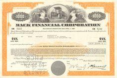 MACK TRUCK Financial Corp. stock certificate share