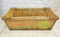 Antique Red Owl Stores Wood Banana Box. Red Owl, Wood Steel, Box Branding, Toy Chest, Crates, Banana, Antiques, Storage, Vintage