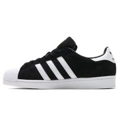 best service d63a0 c2dfb adidas Superstar Suede Core Black S75143 Unisex trainers Running Shoes