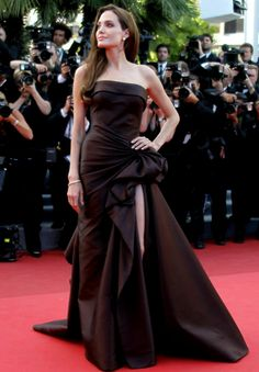Angelina Jolie in Versace at Cannes Film Festival 2011