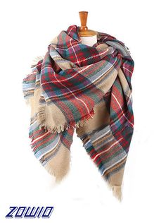 8e2be5ae227f Buy Menglihua Soft Classic Plaid Tartan Cashmere Feel Large Blanket Scarf  Wrap Shawl G Charm  Shop top fashion brands Wraps   Pashminas at  Cheapcapssmall.us ...