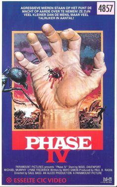 Phase IV (1974) by Saul Bass #vhs #exploitation #terror Phase Iv, Saul Bass, Film Posters, Female Characters, Science Fiction, Tv Series, Actresses, Actors, Baseball Cards