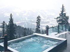 Yellowstone Club features its own mountain, with the resort's common areas and private homes offering spectacular views Mountain Living, Mountain Homes, Yellowstone Club, Lake Beach, Spa Design, Cabins And Cottages, Luxury Spa, Mountain Resort, Decoration