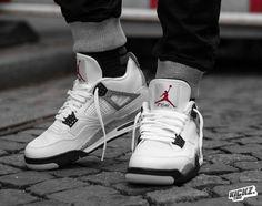 "01a5d983536c Air Jordan IV Retro OG ""White Cement"" on feet shots and release info"
