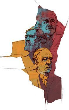 https://www.behance.net/gallery/40097017/Borges-Marquez-Cortazar