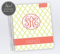 2014 Teacher Planner | Customized on the outside AND the inside; pages printed with each class you teach!