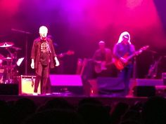 Graham Nash wearing a Stamp Stampede t-shirt on stage! [In May of 2014, #StampStampede teamed up with Crosby, Stills and Nash to help #GetMoneyOut of politics!]