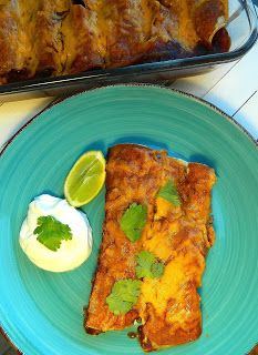 The Salty Kitchen: Beef Enchiladas with Red Sauce
