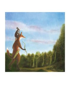 """Art Print of an Original Animal Painting: """"Searching for the Healing Sun"""" by TheLitusGallery"""