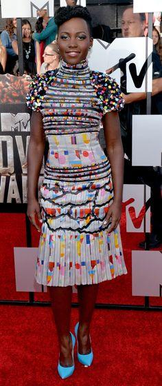 What Color Wasn't Lupita Nyong'o Wearing Tonight?