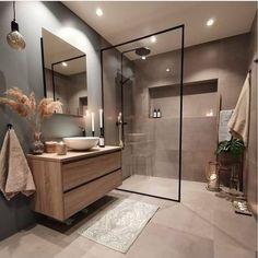 Bathroom Design Luxury, Modern Bathroom Design, Home Interior Design, Modern Luxury Bathroom, Industrial Bathroom Design, Modern Bathrooms, Bathroom Colors, Small Bathroom, Cozy Bathroom