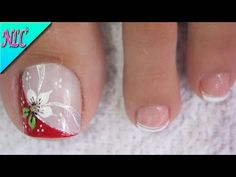 Flower Nail Designs, Pedicure Designs, Pretty Toe Nails, Pretty Toes, Mani Pedi, Manicure And Pedicure, Purple And Pink Nails, Short Natural Haircuts, Cute Pedicures