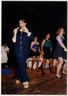 Students from the Class of 1993 performing on stage in Junior Show :: Archives & Special Collections Digital Images