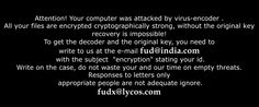 Is your computer attacked by Fud@india.com Ransomware? Have your personal files been encrypted by this ransomware? Have no ideas how to deal with this problem? Don't worry. This post will show you the step-by-step guide to remove Fud@india.com Ransomware from your PC. http://www.malwaretips.org/remove-fudindia-com-ransomware.html