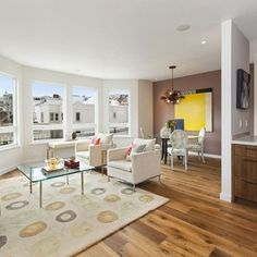 2276 and 2278 Greenwich Street - contemporary - living room - Spaces Design - San Francisco