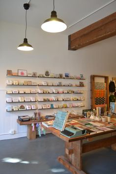 Not a studio, but too good to leave off my pinboard! An SF Book Shop Inspired by Esprit : Remodelista