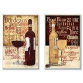 Found it at Wayfair - Wine Typography Kitchen 2 Piece Wall Plaque Set