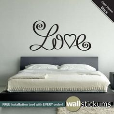 LOVE Wall Art Decal Sticker. $36.00, via Etsy.
