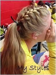 Image Result For Girls Lacrosse Hairstyles Sporty Hairstyles Toddler Sporty Hairstyles Gy In 2020 Cute Braided Hairstyles Sports Hairstyles Box Braids Hairstyles