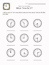 85 best telling time images on pinterest teaching math preschool telling time worksheet ibookread Download