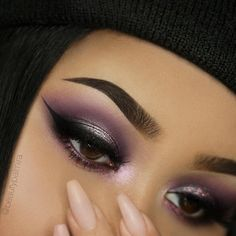 """844 Likes, 17 Comments - Palmira • Makeup • Berlin (@beautypalmira) on Instagram: """"Purple Smokey eyes 🔮 Brows: @Anastasiabeverlyhills Dipbrow Pomade and Duo Powder in Ebony…"""""""