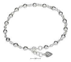Black Bow Jewellery Company Sterling Silver Butterfly and Bee Charm Anklet 10 Inch