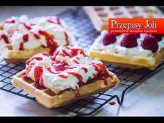 CHRUPIĄCE GOFRY - IDEALNY PRZEPIS - przepis na idealne, pyszne gofry jak z budki. Gofry smakują idealnie i są bardzo proste. To przepis na najlepsze gofry! Waffles, Pancakes, Polish Recipes, Breakfast Recipes, Recipies, Cheesecake, Food And Drink, Cooking Recipes, Sweet
