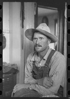 Edwin Gorder, farmer, near Montana state line, Williams County North Dakota. By Photographer Russell Lee, 1903-1986