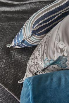 Focus coussin en tissu corto canard et tapis Away Tourmaline ...