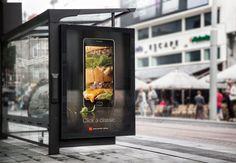 Retouching for McDonald's Mobile App.