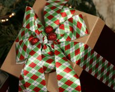 A special gift requires a special ribbon. Our beautiful Christmas argyle is the perfect touch! Visit us at http://www.ribbonbydesign.com to view all our ribbons.