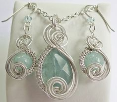 Aquamarine Swarovski Crystal & Non-Tarnish by HeatherJordanJewelry