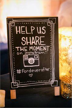 instagram sign @weddingchicks