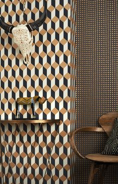 The Delano wallpaper takes it's name from the famous Art Deco hotel on South Beach.  Buy this wallpaper here: https://www.limelace.co.uk/delano-wallpaper-cole-son-geometric-ii-collection.html
