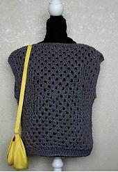 Crochet Granny Square Top pattern by bobwilson123
